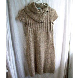 Maurices Tan Cowl Neck Sweater Dress/Tunic- Size M